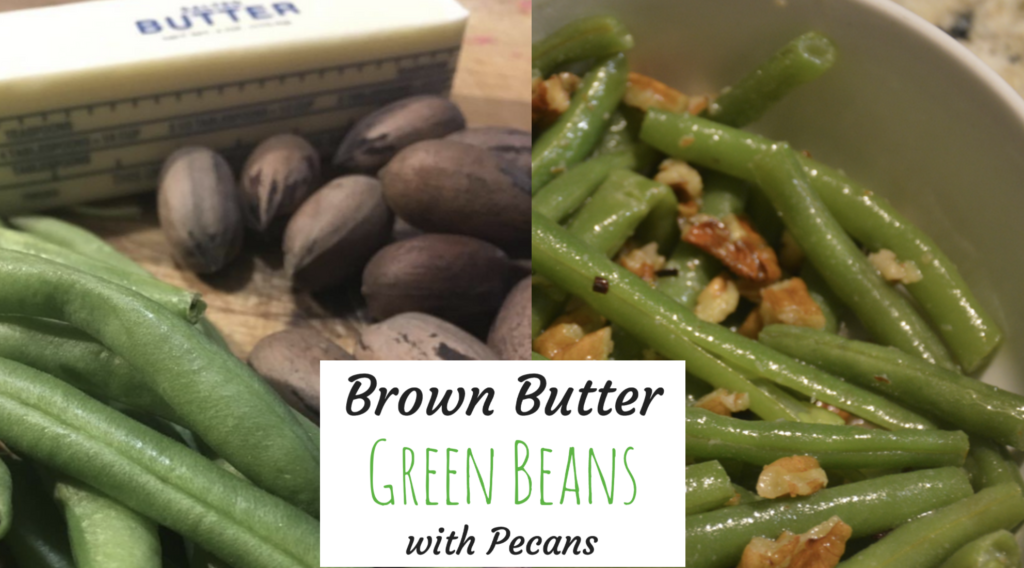 Brown Butter Green Beans with Pecans